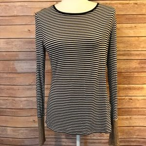 White House Black Market Tops - WHBM long sleeve striped T-shirt